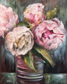 """Kim Black on Instagram: """"Today this canvas is going to start its journey to the UK to an excited client ! It's a wonderful job I get to do AND bring smiles to the…"""" Black Canvas, Black Art, Oil Paintings, Peonies, Journey, Bring It On, Create, Floral, Inspiration"""