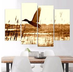 Style Your Home Today With This Amazing 4 Panel Duck Hunting Landscape Framed Wall Canvas For $99.00  Discover more canvas selection here http://www.octotreasures.com  If you want to create a customized canvas by printing your own pictures or photos, please contact us.