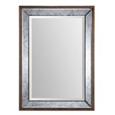 Daria Aged Pecan Stained Solid Wood Antique Framed Mirror Uttermost Rectangle Mirrors Home