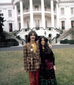 George and Olivia Harrison at the White House circa 1974.
