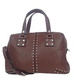 Michael Kors Astor Studded Leather Large Satchel, Mocha Price: $269.99  You Save: $98.01 (27%) List Price: $368.00