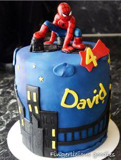 Spiderman cake for David