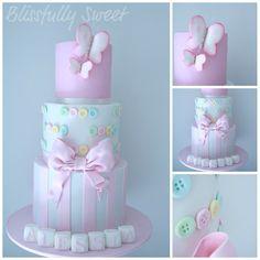 Blissfully Sweet: Buttons & Butterflies Christening Cake