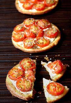 Mini quiche pomodoro e mozzarella