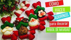 🌟 Adornos Para Decorar El ÁRBOL De NAVIDAD, GUIRNALDAS 🎄 - (Parte 1) -DI... Christmas Decorations, Christmas Ornaments, Holiday Decor, Christmas Things, Bowser, How To Make, Crafts, Youtube, Holidays