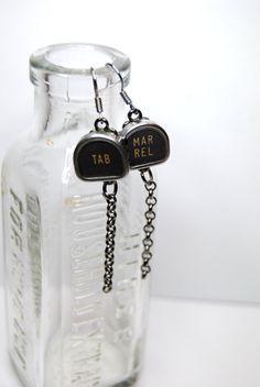 Typewriter Key Earrings  Tab & Margin Release by JustWearThese, $14.00
