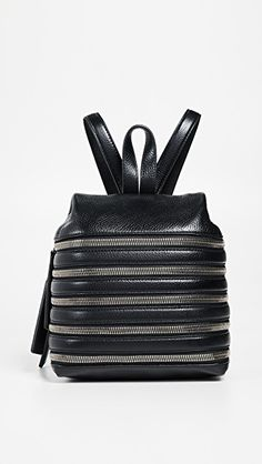 KARA Multi Zip Small Backpack
