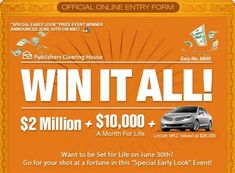 nbc pch win it all Instant Win Sweepstakes, Online Sweepstakes, Ford Explorer, Microsoft, Lotto Winning Numbers, Lottery Numbers, Win For Life, Winner Announcement, Congratulations To You