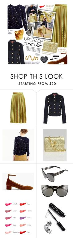 """""""upgrade your chic - exact match"""" by federica-m ❤ liked on Polyvore featuring Topshop, Burberry, J.Crew, Chanel, Linda Farrow, Stila, Bobbi Brown Cosmetics and vintage"""