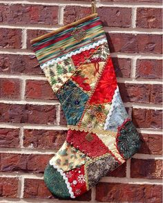 Christmas Stocking Quilted Patchwork Christmas Stocking - I would love this in all white patterns!Quilted Patchwork Christmas Stocking - I would love this in all white patterns! Quilted Christmas Stockings, Christmas Patchwork, Christmas Stocking Pattern, Xmas Stockings, Christmas Sewing, Noel Christmas, Homemade Christmas, Christmas Projects, Christmas Patterns