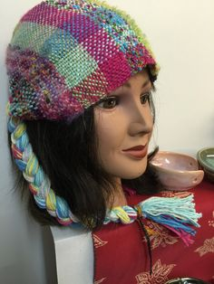Saori-Weavd Hat-$25.00