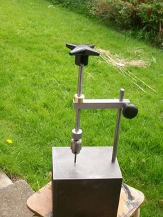 Tapping Stand by sbwhart -- Homemade tapping stand machined from cast iron, aluminum, steel, and brass. http://www.homemadetools.net/homemade-tapping-stand-3