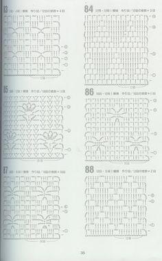 Crochet facile tricot et ideas for 2019 Filet Crochet, Crochet Stitches Chart, Crochet Diagram, Crochet Squares, Crochet Granny, Crochet Motif, Granny Squares, Japanese Crochet Patterns, Mode Crochet
