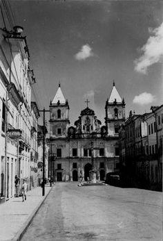 Igreja de São Francisco em Salvador (BA) - déc. 50 Ary Barroso, Salvador Ba, Rock Lee, Brazil, Ale, Street View, World, Old Photographs, Old Pictures