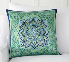 Naomi Pillow Cover #potterybarn For my Sarah she loves teal and blue
