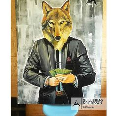 "💎🎨Terminado🎨💎 💲💲💲""What Wolf Boss Wants""💲💲💲  _______________________________    Visita mi galería virtual para ver más de mis obras, ⭐ aquí :  www.guillermovuljevas.com  ______________________________________    #art #arte #graffitti #graffiti #streetart #painting #popart #picoftheday #montevideo #uruguay #guillermovuljevas #Wolf #lifestyle #millionaire #money #like4like #instagram #dollar #follow4follow #me #love #life #work #suit #wallstreet #instagram #louisvuitton…"