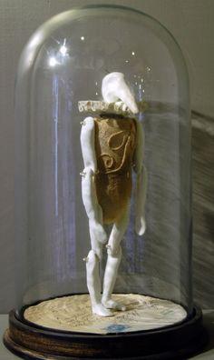 Birdman - porcelain, textile and wire - Caroline Lingwood