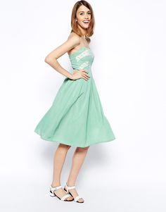 ASOS Lace Bandeau Prom Dress