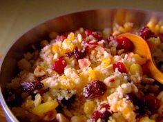 Sweet Couscous with Nuts and Dried Fruit. This is delicious! I made it one Thanksgiving with a Moroccan spice-rubbed turkey.