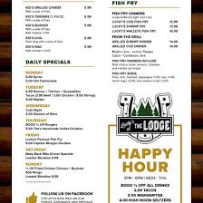 Lucky's At The Lodge — Google Local Lucky Restaurant, Daily Specials, Happy Hour, Google