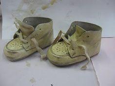 Making Baby Shoes Look Vintage