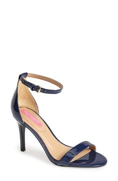 We love this ankle strap sandal in hard to find navy!