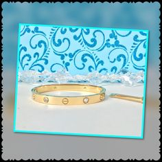 """Love Bracelet Bangle size 19  High Quality Love Bracelet Bangle size 19 fits up to 7 3/4"""" wrist comes with matching screwdriver  Made of 18 k gold over titanium steel; will not tarnish , fade or turn skin green also available in size 16 ( fits up to a 6 1/2"""" wrist ) and size 21 ( fits up to a 8 1/2"""" wrist ) Jewelry Bracelets"""
