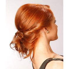 Medium Red (Ginger) TheHairStyler.com ❤ liked on Polyvore featuring hair, people, hairstyle, hair styles and models