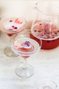 Rhubarb-Prosecco Spritzer | Katie at the Kitchen Door