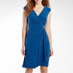 American Living Short Sleeve Wrap Dress - jcpenney