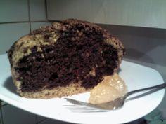 torta al cioccolato con pesche