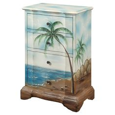 Tropical Chest - if you are good with paints then you can paint a seascape motif on a refurbished chest of drawers.