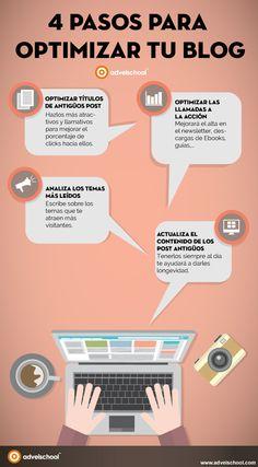 4 Pasos para Optimizar tu Blog y mejorar tu posicionamiento web y la visibilidad de tu marca.
