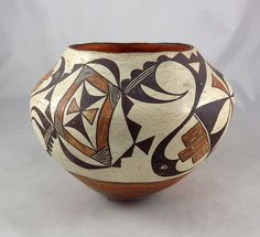 Child size pottery olla from Acoma Pueblo is dated by the collector at 1920.
