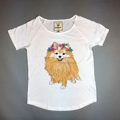 This cute pomeranian pup needs a home! Tees available from http://ift.tt/1ihQVKN with FREE uk shipping!
