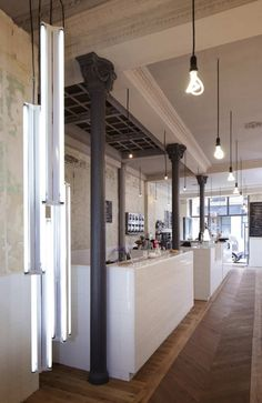 Cafe / Bakery / Coffeeshop. Innovate use of the lights.