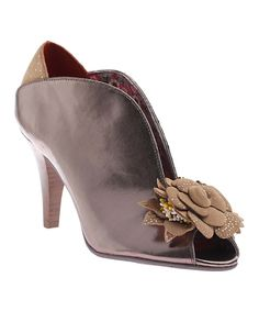 Look at this New Pewter Baby Cakes Leather Peep-Toe Pump on #zulily today!