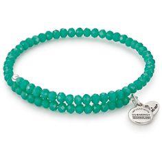 Alex and Ani Tropical Pebble Wrap Bangle ($28) ❤ liked on Polyvore featuring jewelry, bracelets, tropical, expandable charm bangle, beaded bangles, wrap bracelet, silver bangles and charm wrap bracelet