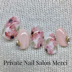 ネイルコレクション♪ on in 2019 Hard Nails, How To Do Nails, Water Color Nails, Nagel Hacks, Almond Acrylic Nails, Japanese Nail Art, Flower Nail Art, Gel Nail Designs, Nail Art Galleries