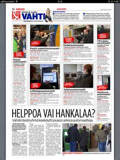 Senioriverkko oli mukana testaamassa erilaisia automaatteja. Iltalehti 3.4.2013