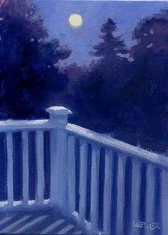"Daily+Paintworks+-+""Blue+moon""+-+Original+Fine+Art+for+Sale+-+©+Kathy+Weber"