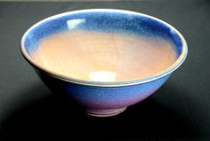 Purple Blue Ceramic Serving Bowl, Hand Thrown Porcelain Pottery, Ceramic Bowl, Cereal Bowl, Salad Bowl, Soup Bowl, Mixing | Caldwell Pottery