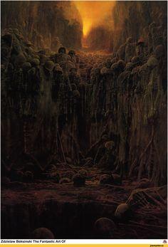 Zdzislaw Beksinski,art,арт,красивые картинки,живопись,под катом еще,крипота