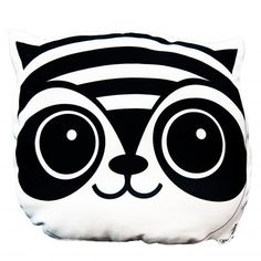 Panda Pillow, Fox Pillow, African Babies, Monochrome Nursery, Animal Heads, Safari Animals, Wall Stickers, Sheep