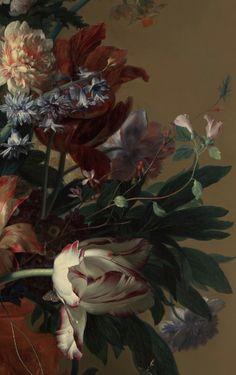 Detail of Vase of Flowers by Jan van Huysum, 1722. Oil on canvas.