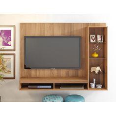 Painel para TV até 50 Doc com Suporte Rústico - Classic Home