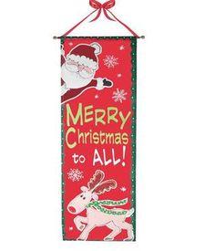 "Merry Christmas Santa Door Decoration - 17"" x 48"""