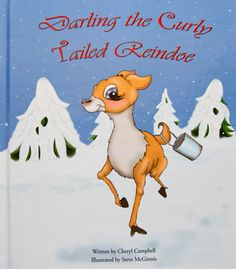 Darling the Curly Tailed Raindoe Artwork Design, Listening To Music, Printing Services, Reindeer, My Books, Disney Characters, Fictional Characters, Curly, Snoopy