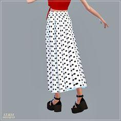 Long Pleats Skirt at Marigold • Sims 4 Updates