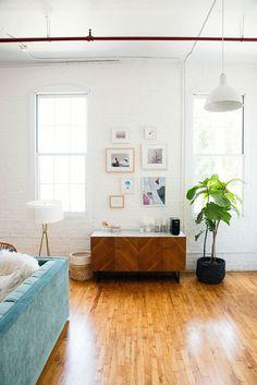 studio gallery wall | designlovefest